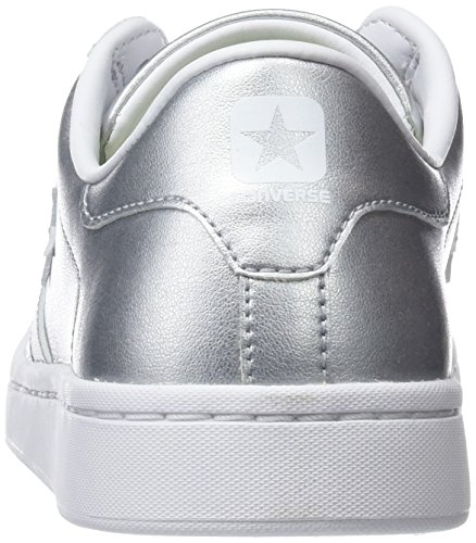 Argenté Converse Silver Leather Baskets Metallic Silver silver Pro xCXTCzq