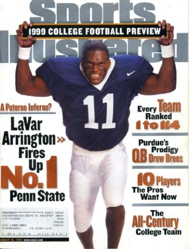 Sports Illustrated August 16 1999 LaVar Arrington/Penn State on Cover, College Football Preview, Drew Brees/Purdue, 10 Players the NFL Wants Now, Team of the Century, Mark McGwire/St. Louis Cardinals