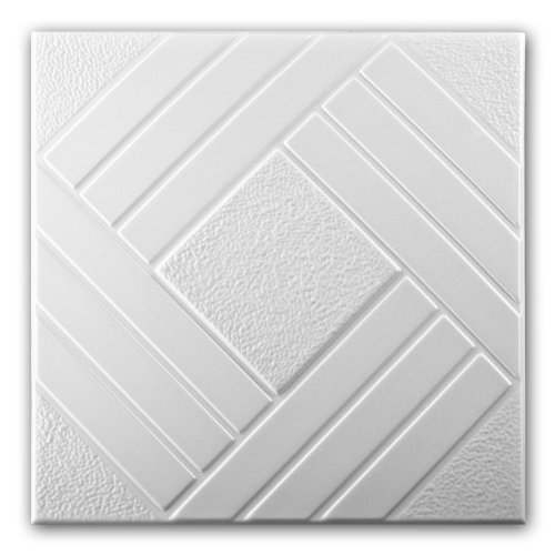 Polystyrene Foam Ceiling Tiles Panels 0825 (Pack 96 pcs) 24 sqm White
