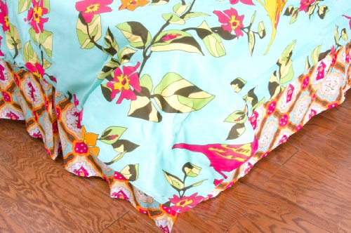 Rizzy Home Birds in Paradise Kids Bed Skirt, ()