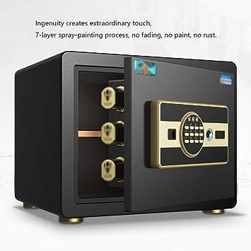 Cajas fuertes Toda caja de seguridad cajón de acero seguro smart contraseña segura casa pequeña caja