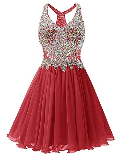 6cf7293e182b ALAGIRLS Short Beaded Prom Dress Tulle Applique Homecoming Dress ...