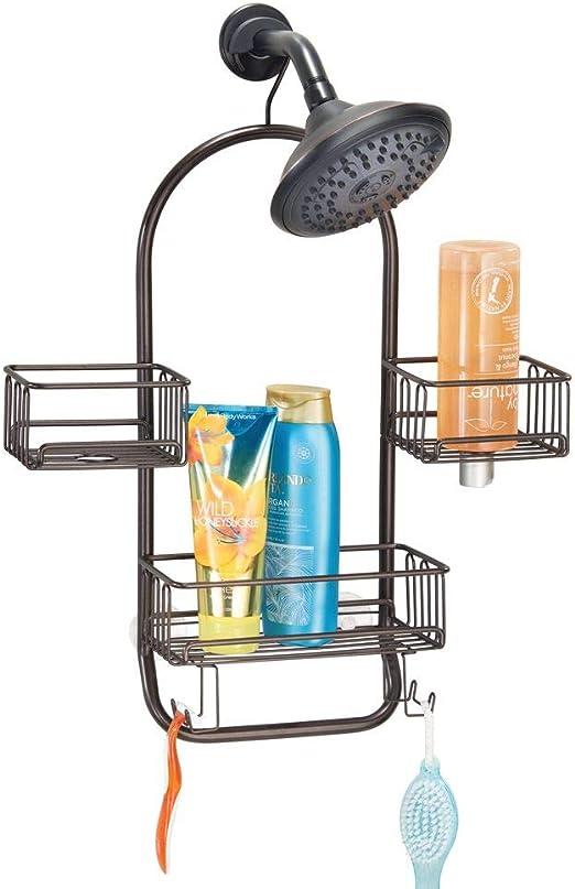 mDesign Estantería para ducha colgante – Práctica estantería de ...