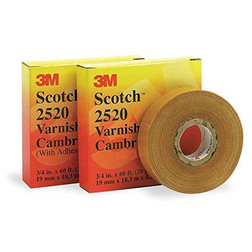 Scotch Electrical Insulating Varnished Cambric Tape 2520, 1 in x 36 yd by Scotch