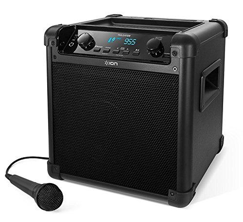 Rechargeable Pa System - ION Audio Tailgater (iPA77) | Portable Bluetooth PA Speaker with Mic, AM/FM Radio, and USB Charge Port