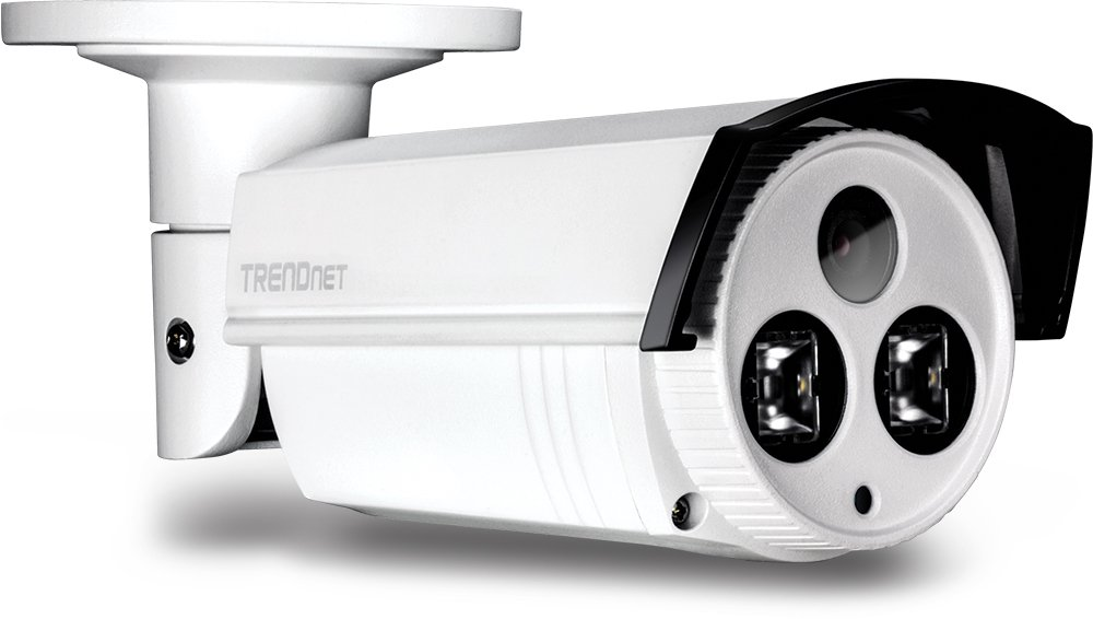 TRENDnet Indoor/Outdoor (TV-IP312PI) Bullet Style, PoE IP Camera with 3 Megapixel 1080p Full HD Resolution, Digital WDR, IP66 Weather Rated Housing,  Advanced  164 feet night vision, ideal for monitoring your home/business remotely, Secu, Free App for And by TRENDnet