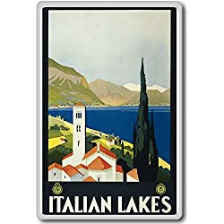 Italian Lakes, Italy, Europe Vintage Travel Fridge Magnet