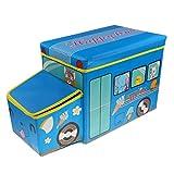 Dovewill Car Baby Kids Toys Storage Canvas Box Laundry Organizer Foldable Bench - Blue, 57x26x32cm