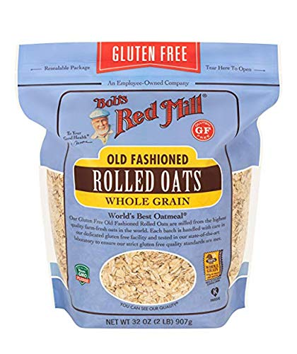 Bob's Red Mill Gluten Free Old Fashion Rolled Oats, 32 Oz (Pack of 4) by Old Fashion