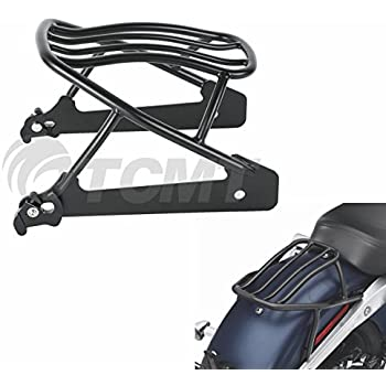 Amazon Com Tcmt Black Solo Luggage Rack Fits For Harley