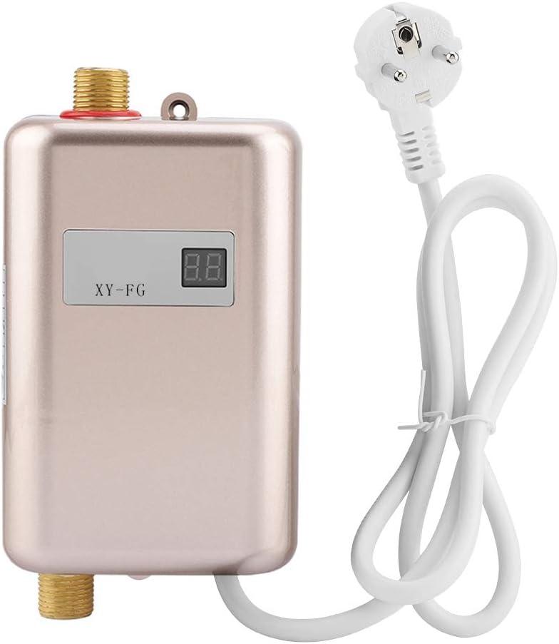 FTVOGUE 220V 3400W Mini eléctrico Sin Tanque Calentador instantáneo de Agua Caliente Baño Cocina Lavado(03)