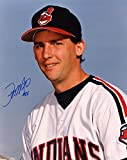 JEFF MUTIS CLEVELAND INDIANS W/ BAT SIGNED AUTOGRAPHED 8X10 PHOTOS W/COA