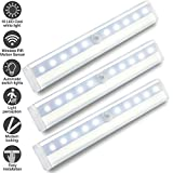 Motion Sensor Light Indoor,10 LED Wardrobe Light Battery Operated with Sensor WZMIRAI Battery Cupboard Light LED with Magnetic Stripe for Kitchen Counter or Anywhere