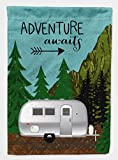 Cheap Caroline's Treasures VHA3022GF Garden Size Airstream Camper Adventure Awaits Flag, Multicolor, Small