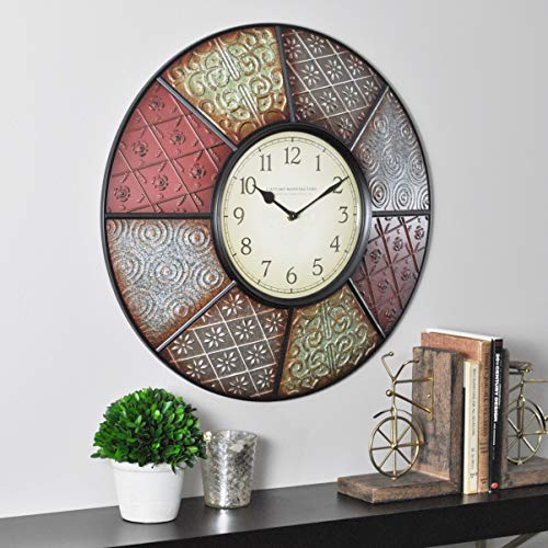 FirsTime & Co 25635 Firstime Patchwork Wall Clock, 20.5