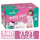 Pampers Easy Ups Training Pants Pull On Disposable Diapers for Girls, Size 4 (2T-3T), 140 Count, ONE Month Supply: more info