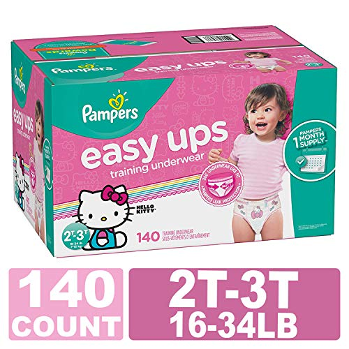 (Pampers Easy Ups Training Underwear Girls Size 4 2T-3T 140 Count)