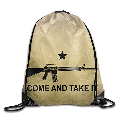 (M-16A2 Come And Take It Drawstring Backpack Bag Gym Sack)