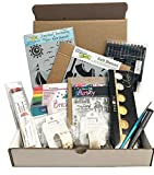 Dandy Bible Journaling Kit # BJK01 Includes Stencils Stamps Markers Watercolors Multiliner Washi Tape Brush and Acrylic Block