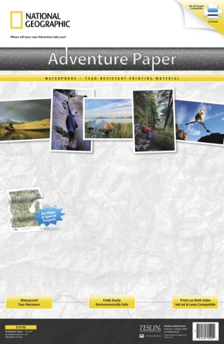 National Map Paper Geographic Adventure (Adventure Paper Tabloid)