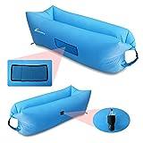 Vansky Outdoor Inflatable Lounger Portable Waterproof Air Filled Balloon Air Bag,Nylon Fabric Bean Bag, Air Sleeping Sofa Couch for Camping,Beach,Park,Backyard