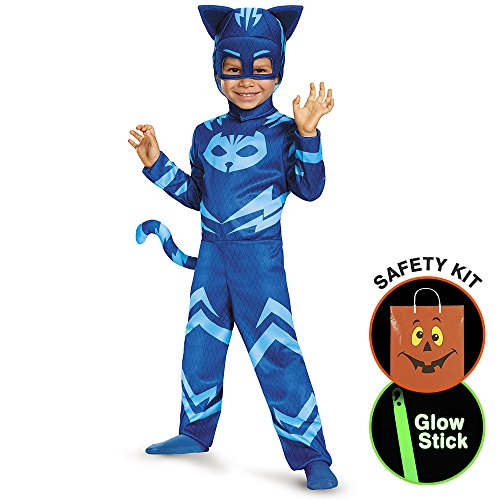 [Pj Masks Catboy Toddler Classic Costume Halloween Trick or Treat Safety Kit Small] (Trick Or Treat Costumes For Adults)