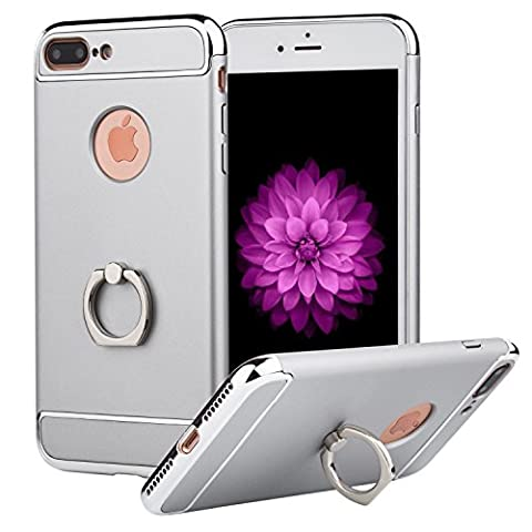 iPhone 7 Plus Case,PhotonDynamic Apple iPhone 7 Plus Case Rugged Protection Anti-Slip Grip and Anti-Scratch Clear Back [Portable for Kickstand] [Shockproof Bumper] for iPhone 7 Plus (Iphone4 Tough Cases)