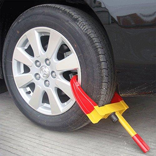Keraiz Heavy Duty Wheel Clamp For Car, Vehicles/Anti-theft Safety Lock With Keys