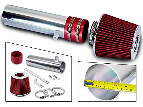 Rtunes Racing Short Ram Air Intake Kit + Filter Combo RED For 94-96 Buick Roadmaster / 94-96 Cadillac Fleetwood / 94-96 Chevy Impala SS/Caprice 4.3L 5.7L V8