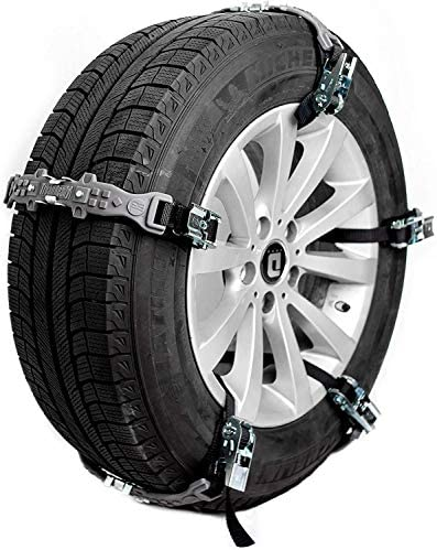 TreadReady Adirondack Anti-Skid Emergency Tire Straps- Set of 10 | Tire Chain Alternatives, Passenger Car Traction Device, Snow, Sand, Mud Chains for SUV/Cars/Trucks/ATV