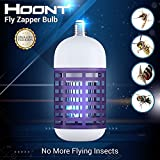 Hoont Electric Indoor Bug Zapper Bulb Killer Catcher Trap – Fits All Standard Bulb Sockets -...