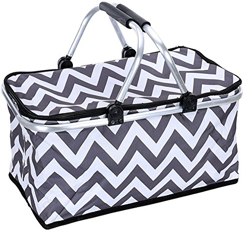Top picnic basket aluminum