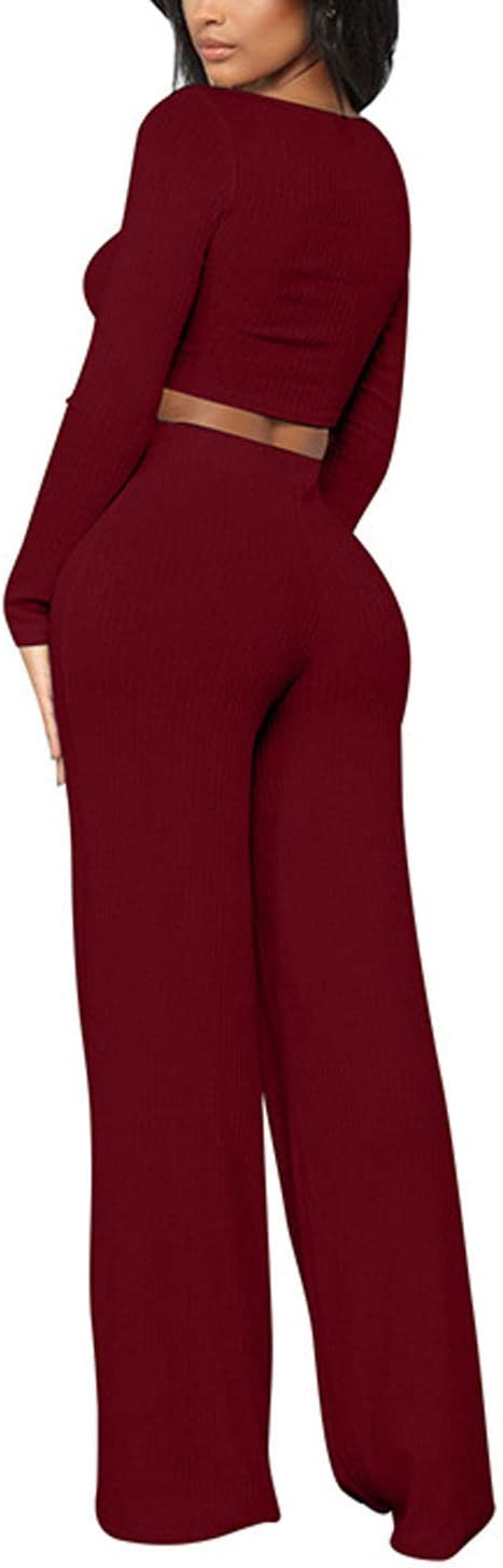 UUYUK Women Casual Sport Long Sleeve Zip Up Long Pants Rompers Jumpsuit