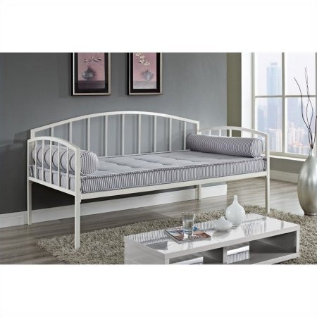 Contemporary Design Sturdy Metal Daybed Frame, Accommodates One Standard Twin-Size Mattress, Box Spring Not Required, Weight Limit: 400 LBS, Functional Storage, Multiple Colors + Expert (Oak Twin Size Daybed)