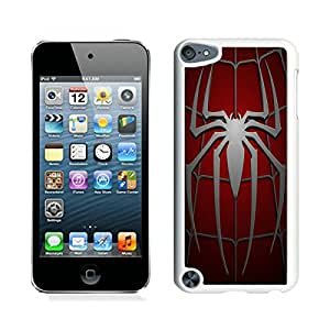 iPod Touch 5 Spider man White Screen Cover Case Durable and DIY Skin