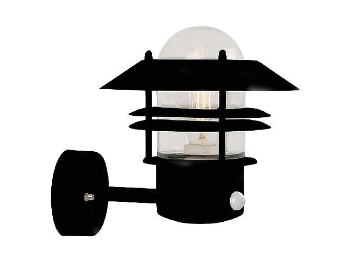 Nordlux Blokhus - Farol de pared para exteriores con sensor de movimiento (acero galvanizado)