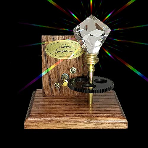(Silent Symphony Solar Spinning Crystal Aria Single Crystal to Fill Your Room With Rainbows Model )