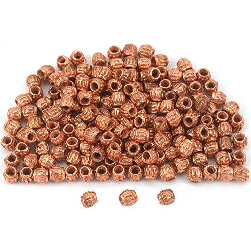 Bali Barrel Tube Beads Copper Plated 3mm New Approx 160 -