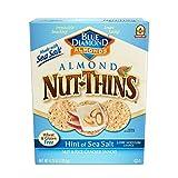 Blue Diamond Gluten Free Almond NutThins Cracker Crisps, Hint of Sea Salt, 4.25 Ounce (Pack of 12)