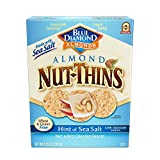 Blue Diamond Almonds Nut Thins Cracker Crisps, Hint of Sea Salt, 4.25 Ounce