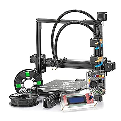 New 3D Printer kit TEVO Tarantula I3 Aluminium Extrusion 3d printing with flex extruder+automatic platform+Dual color (200mm280mm200mm, black)