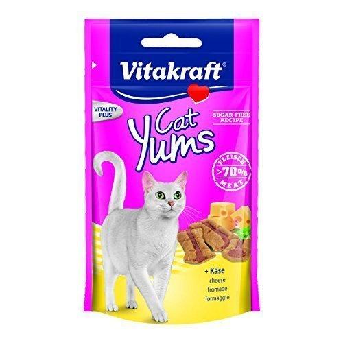 Vitakraft Katzensnack Cat Yums plus Käse - 9 x 40g