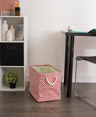 """DII Woven Paper Storage Basket or Bin, Collapsible & Convenient Home Organization Solution for Office, Bedroom, Closet, Toys, & Laundry (Small - 11x10x9""""), Rust Chevron by DII (Image #6)"""
