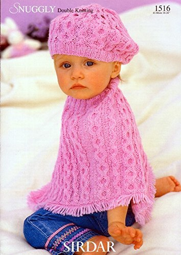Sirdar Sirdar Snuggly Dk Cabled Poncho Beret Knitting Pattern