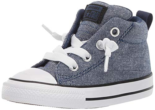 Converse Boys Infant Chuck Taylor All Star Street Mid Top Sneaker, Navy/Black/White, 3 M US -