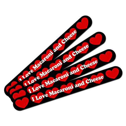 Double-Sided Nail File Emery Board Set 4 Pack I Love Heart Food J-M - Macaroni and Cheese -  Graphics and More, NAIL.FILE.LONG.66492
