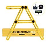 Angleizer Template Tool Free Professional Mini Levels, AIMEI Accurate and Durable Multi Angle Ruler Measures All Angles and Forms for Handymen, Builder, Craftsmen , DIY-ers