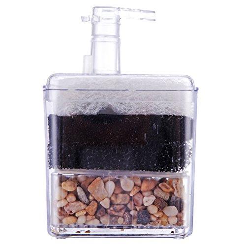 ueetek Corner filtro interno Air Driven filtro bio Esponja ceramica para Fry Shrimp Nano Acuario Acuario