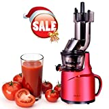 Slow Masticating Juicer Extrator, 82MM Wide Feed Chute,240W AC Motor, High Nutrient Fruit and Vegetable Juice