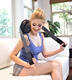 Zyllion Back Neck Massage Pillow - Heated Shiatsu Massager for Relaxation, Physical Therapy, and Pain Relief (ZMA-19-BK)